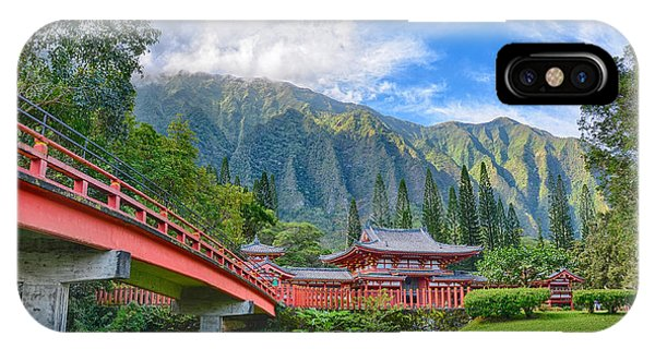 Byodo-in Temple In The Valley Of The Temples IPhone Case