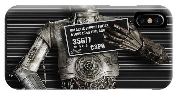 C-3po Mug Shot IPhone Case