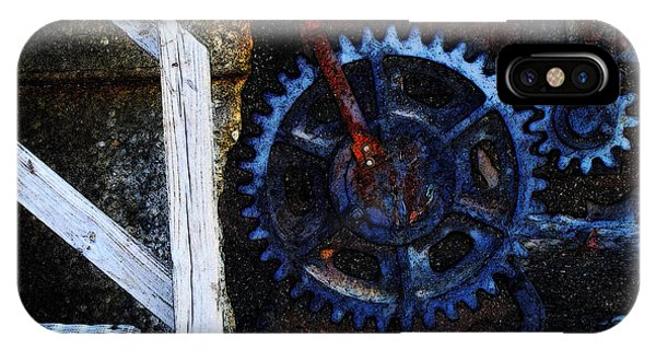 C N W Railroad Bridge Gears IPhone Case