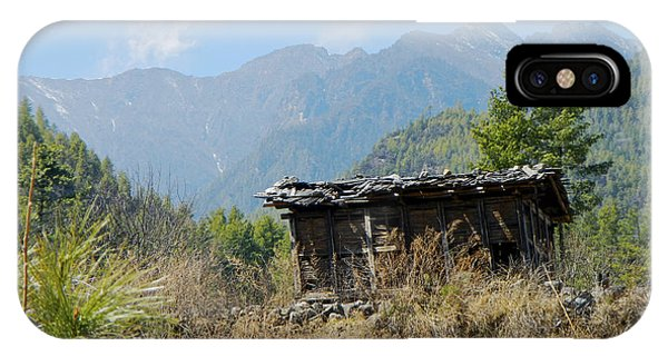 Cabin In Bhutan All Profits Go To Hospice Of The Calumet Area IPhone Case