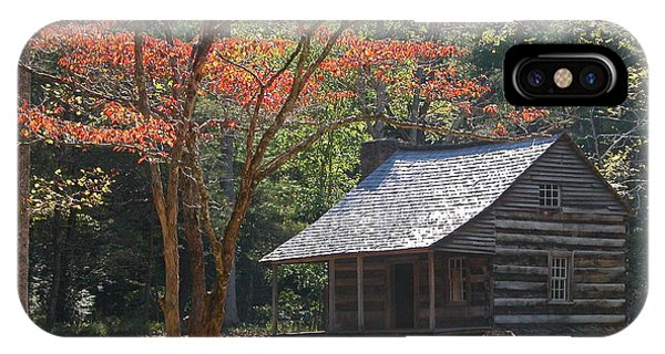 Cabin In Cades Cove IPhone Case