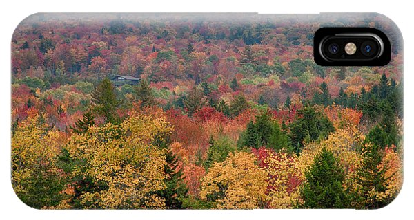 Cabin In Vermont Fall Colors IPhone Case