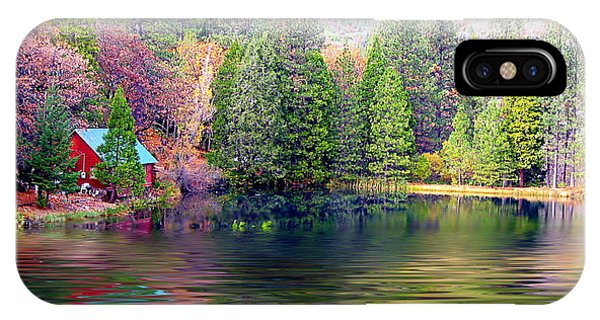 Cabin On The Lake IPhone Case