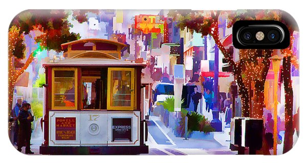 Trolley Car iPhone Case - Cable Car At The Powell Street Turnaround by Bill Gallagher