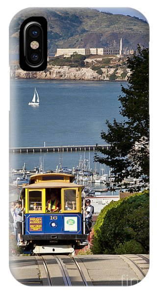 IPhone Case featuring the photograph San Francisco Cable Car On Hyde Street Print By Brian Jannsen Photography by Brian Jannsen