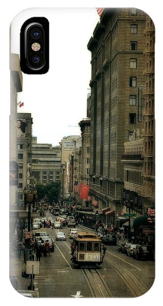 Cable Car In The City IPhone Case