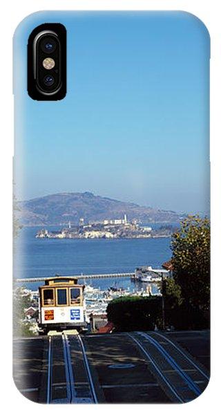 Cable Car On Tracks, Alcatraz Island IPhone Case