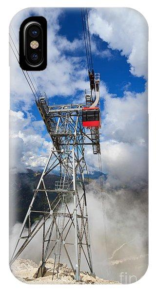 cableway in Italian Dolomites IPhone Case