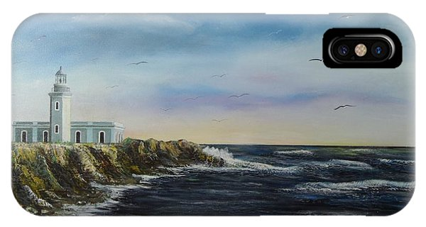 Seagull iPhone Case - Cabo Rojo Lighthouse by Tony Rodriguez