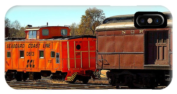 Caboose And Car IPhone Case