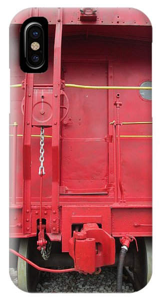 Red Caboose iPhone Case - Caboose by Randall Weidner