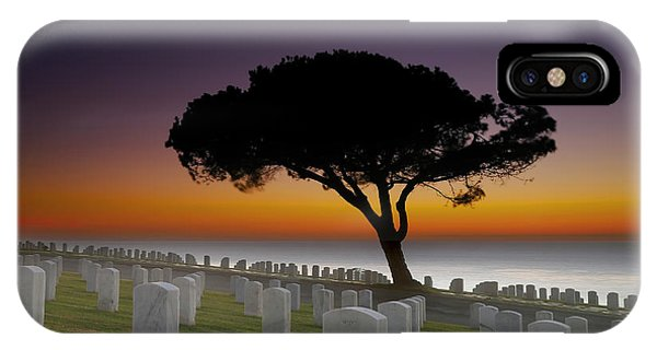 Cemetery iPhone Case - Cabrillo National Monument Cemetery by Larry Marshall