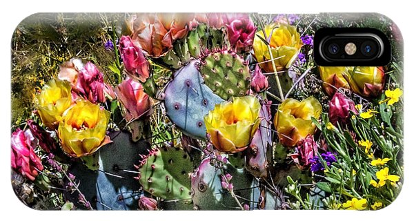 Cacti Flowers Painterly Phone Case by Georgianne Giese