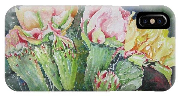 Cactus Blooms IPhone Case