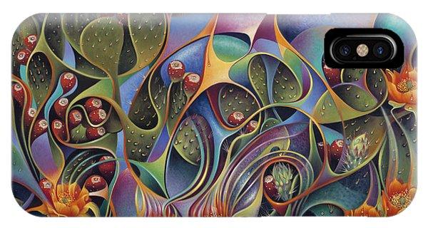 Spines iPhone Case - Cactus Dinamicus 3d by Ricardo Chavez-Mendez
