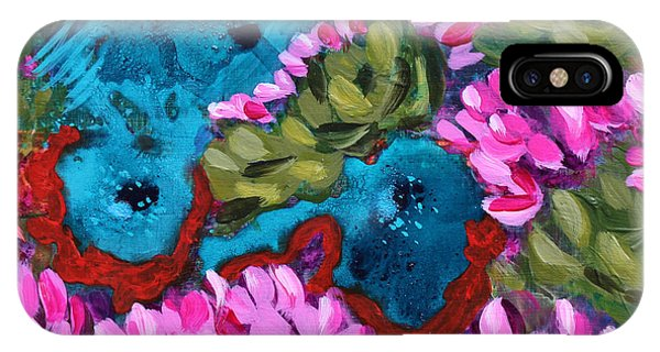 Cactus Flower Blue Bird Dream IPhone Case