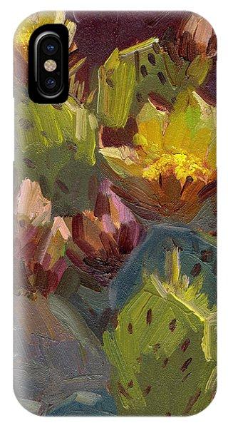 Cactus In Bloom 1 IPhone Case