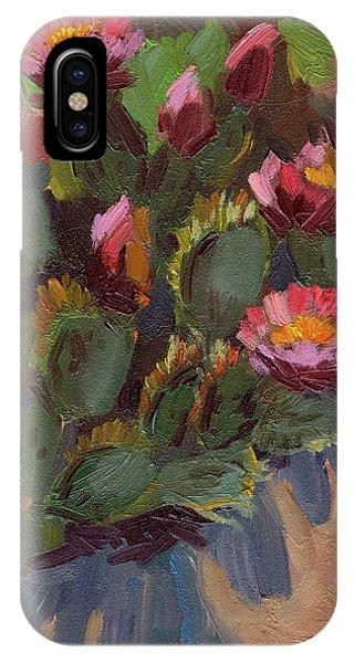 Cactus In Bloom 2 IPhone Case