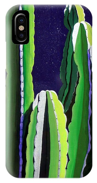 Cactus In The Desert Moonlight IPhone Case