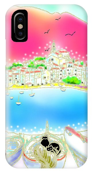 iPhone Case - Cadaques Cats by Hisayo Ohta