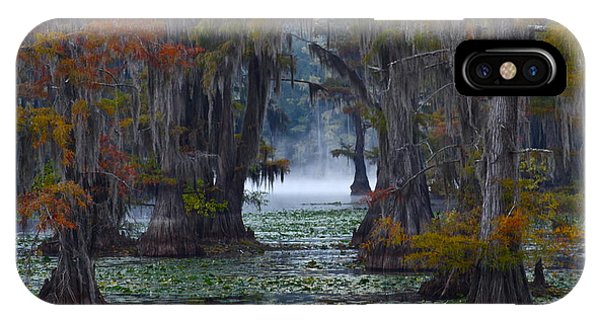 Cypress iPhone Case - Caddo Lake Morning by Snow White