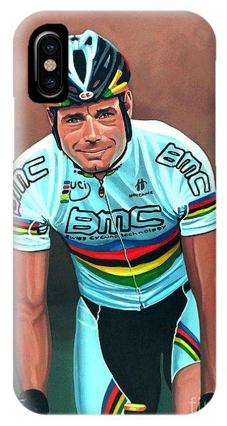 Biker iPhone Case - Cadel Evans by Paul Meijering