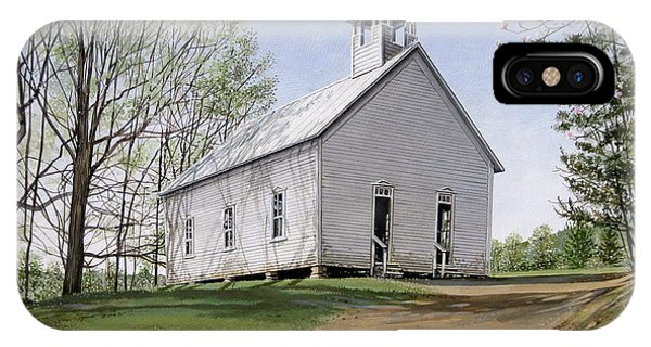 Cades Cove Methodist Church IPhone Case