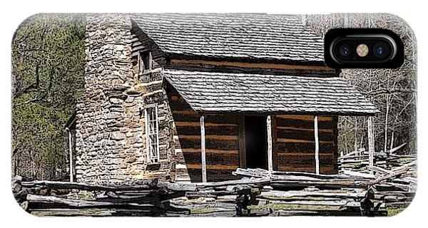 Cades Cove Old Cabin Art01 IPhone Case