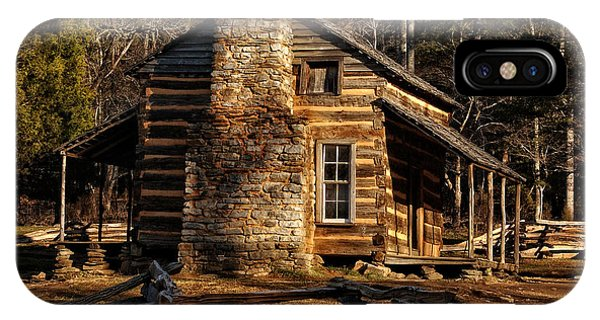 Cades Cove Oliver's Cabin IPhone Case