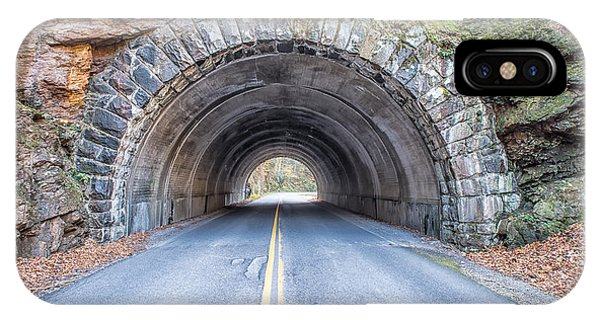 Cades Cove Road Tunnel IPhone Case