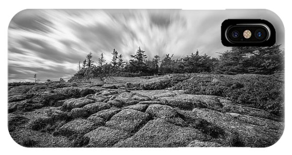 Michael iPhone Case - Cadillac Mountain Long Exposure Bw by Michael Ver Sprill