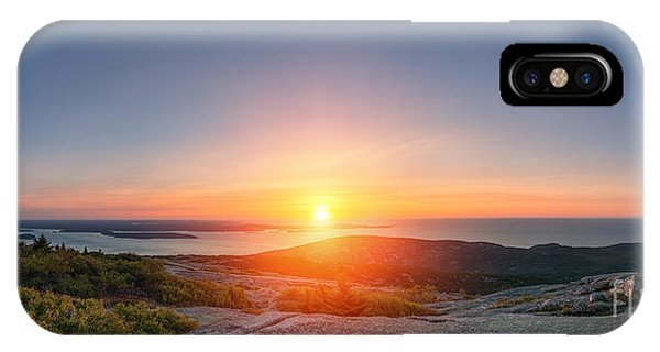 Michael iPhone Case - Cadillac Mountain Sunrise Panorama by Michael Ver Sprill
