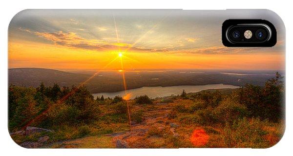 Cadillac Mountain Sunset Acadia National Park Bar Harbor Maine IPhone Case