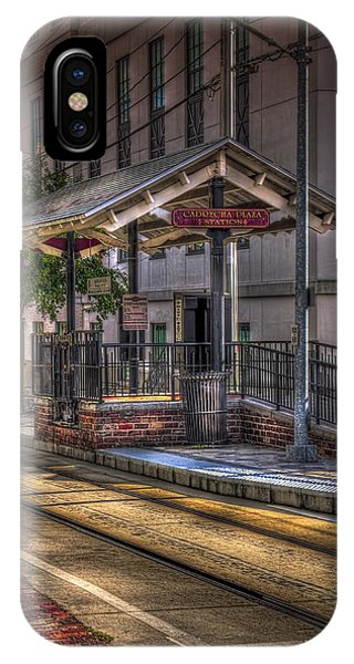 Trolley Car iPhone Case - Cadrecha Plaza Station by Marvin Spates