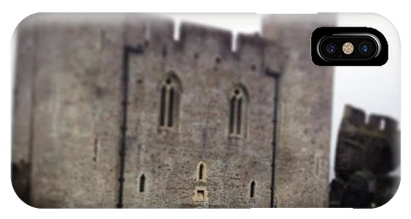 Vw Bus iPhone Case - Caerphilly Castle by Alex Nagle