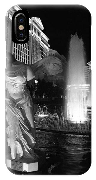 Caesars Fountain Bw IPhone Case