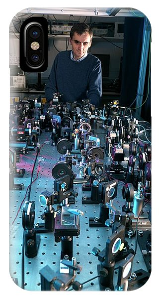Npl iPhone Case - Caesium Clock Detection Equipment by Andrew Brookes, National Physical Laboratory/science Photo Library