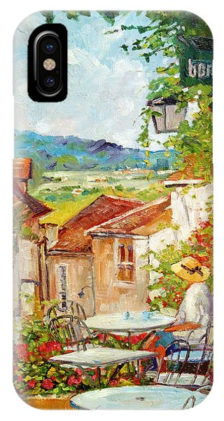 Cafe Provence Morning IPhone Case