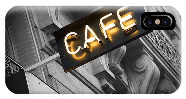 Cafe Sign IPhone Case
