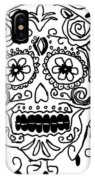 IPhone Case featuring the painting Calavera  by Epic Luis Art