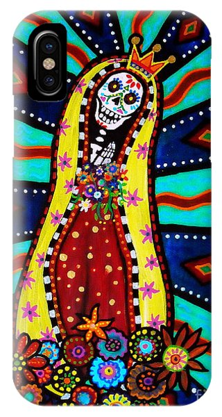 Calavera Virgen IPhone Case