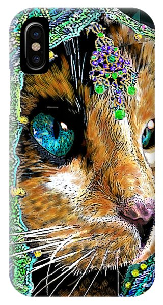Calico Indian Bride Cats In Hats IPhone Case