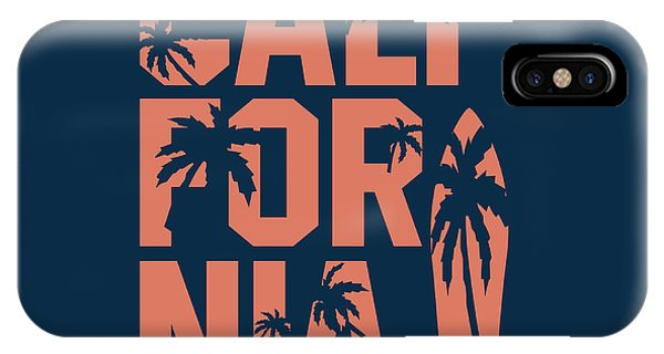 Craft iPhone Case - California Beach Typography Graphics by Yevgenij d