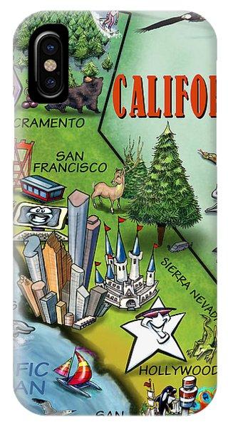 California Cartoon Map IPhone Case