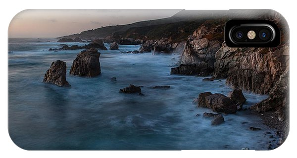 Monterey iPhone Case - California Coast Dusk by Mike Reid
