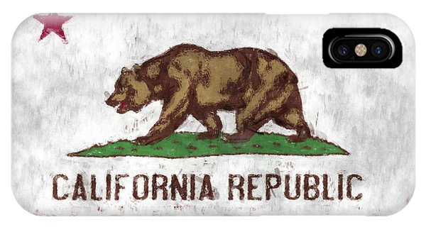 California iPhone Case - California Flag by World Art Prints And Designs