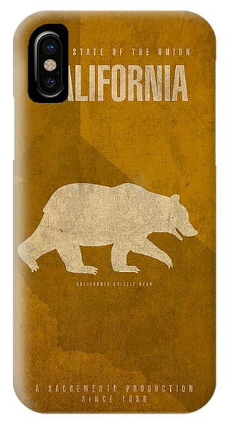 Minimalist iPhone Case - California State Facts Minimalist Movie Poster Art  by Design Turnpike