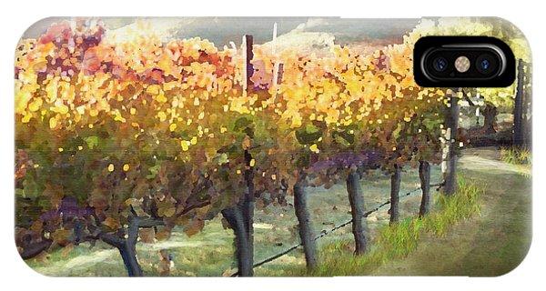 California Vineyard Series Morning In The Vineyard IPhone Case