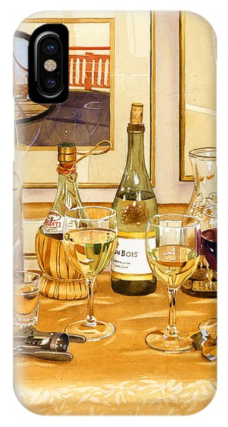 California Wine And Watercolors IPhone Case