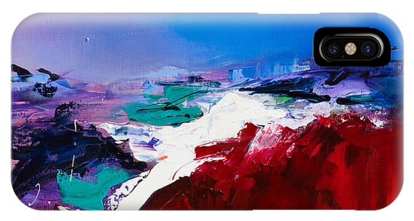 Red Sky iPhone X Case - Call Of The Canyon by Elise Palmigiani